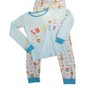 Children's Place Light Blue Rainbow Pajama Set 8